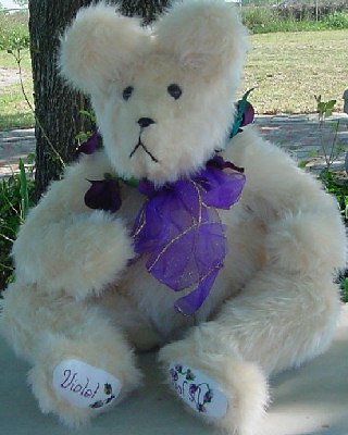 "Large Blond ""Violet"" Bear"